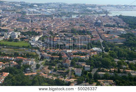 Aerial view to La Rochelle, Poitou-Charentes, France