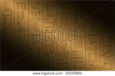 Hieroglyphic Poster