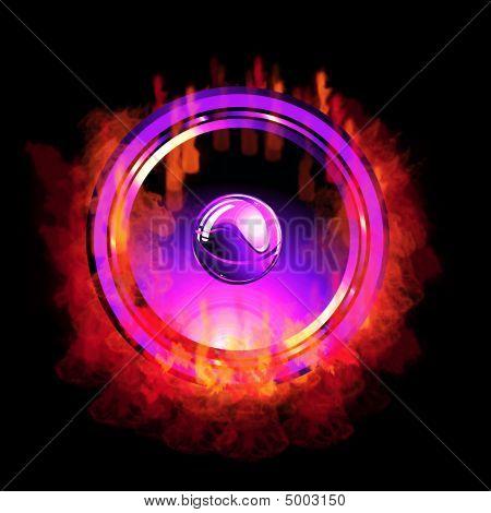 Flaming Speaker