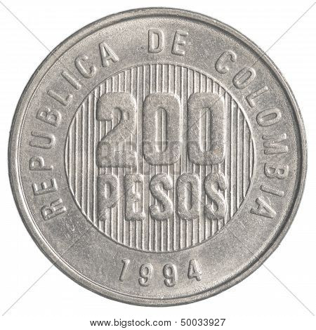 200 Colombian Pesos Coin