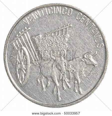 25 dominican republic peso centavos coin