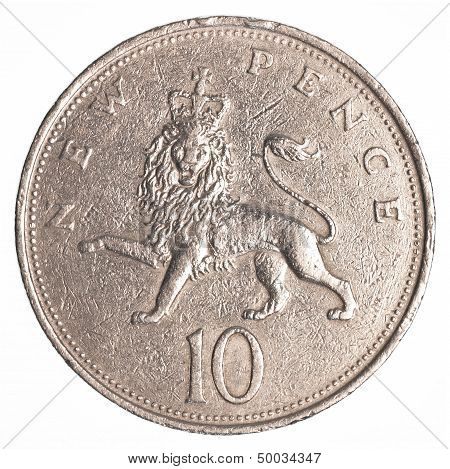 10 British Pennies Coin