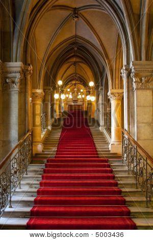 Interior do castelo gótico