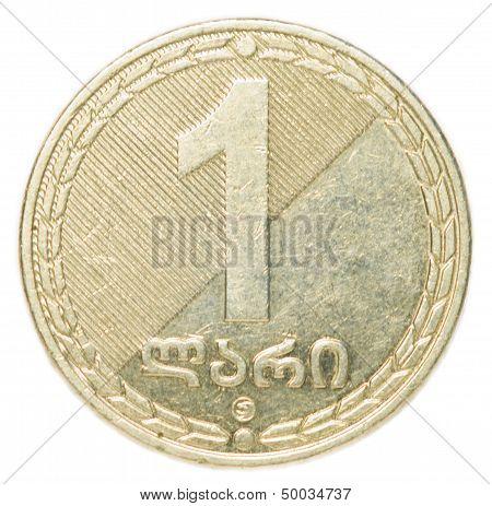 one Georgian Lari coin