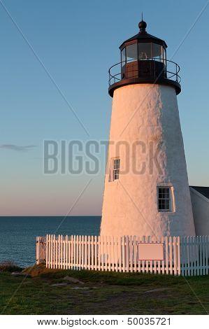 New England Lighthhouse At Dawn