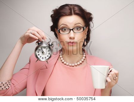 Young businesswoman having a coffee-break