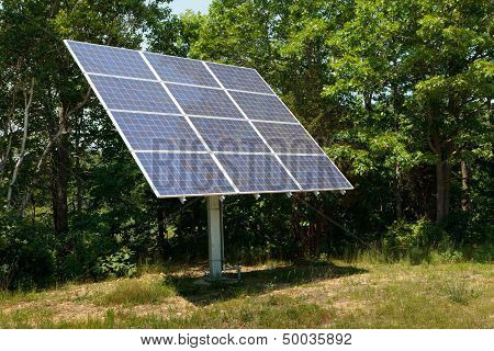 Solar Panel Near Woods