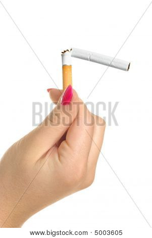 Jand With A Broken Cigarette