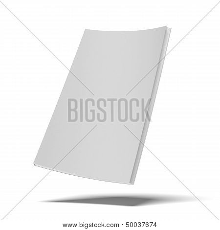 white book with blank soft cover