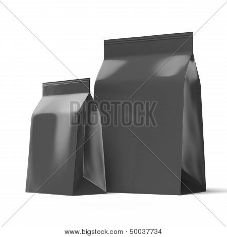 Two black Foil packages