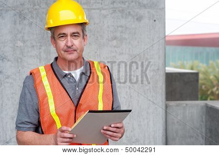 Portrait Of A Happy Construction Worker