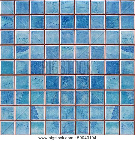 Blue Mosaic Decoration Tile Wall Texture Background
