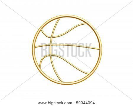 Golden Basketball Symbol