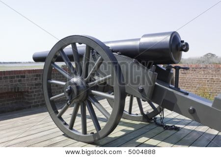 Canon At Fortress Wall