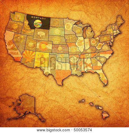 Montana On Map Of Usa