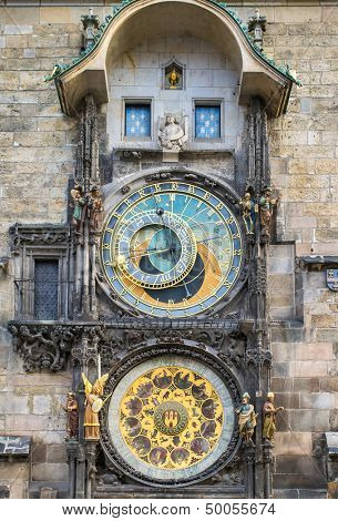 Astronomical Clock (Orloj) in the Old Town of Prague, Czech Republic