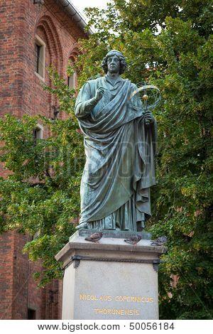 Monument of Nicolaus Copernicus in Torun, Poland