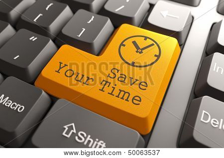 Keyboard with Save Your Time Button.