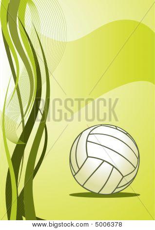 Fondo abstracto de voleibol