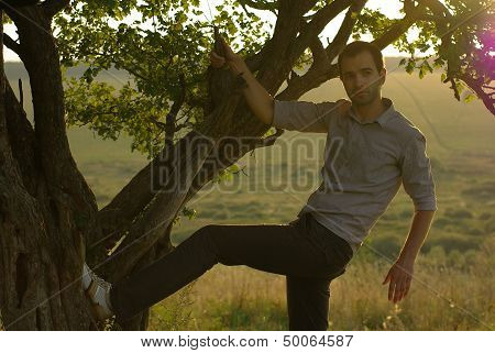 Men under tree