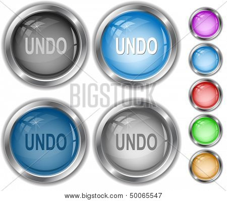 Undo. Raster internet buttons. Vector version is in portfolio.