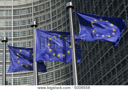 Banderas europeas en Bruselas