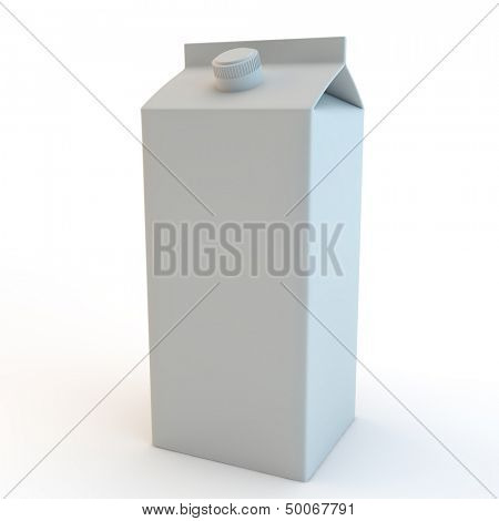 modern milk carton (tetrapak) with screw top lid