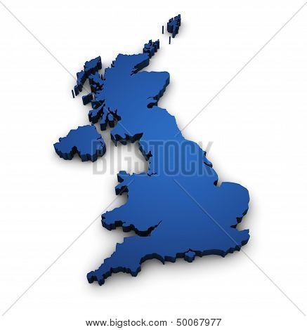 Map Of United Kingdom 3D Shape
