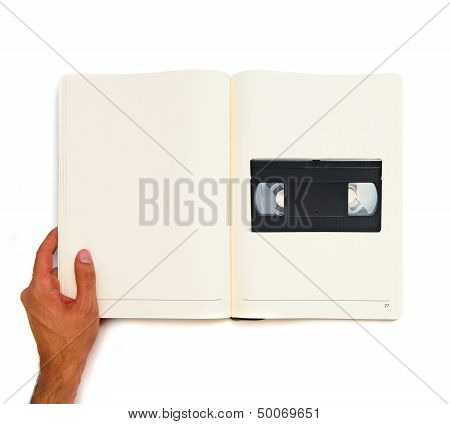 Vhs Printed On White Book