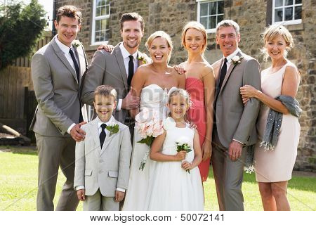 Family Group At Wedding