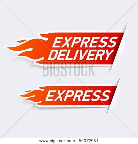 Express delivery symbols. Vector.