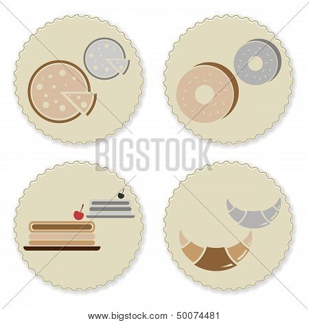 Set Of Vintage Homemade Bakery Badges