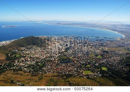 Capetown And Table Bay(South Africa)