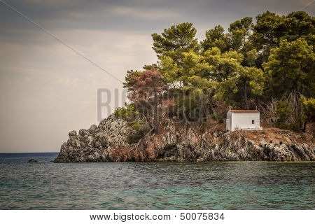Small Church on Island, Parga Greece