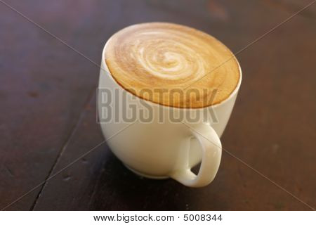 Delicious Piccolo Latte In Small Cup.