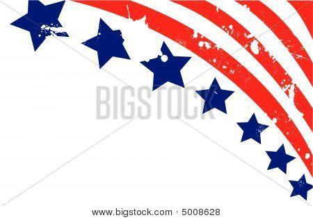 Bandera de Estados Unidos en estilo Vector