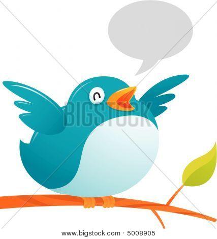 Large blue bird