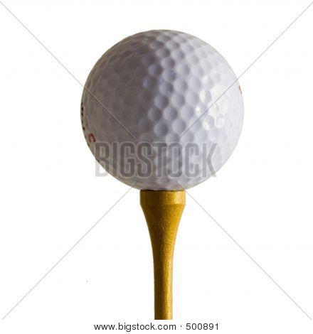 Tee de bola de golfe