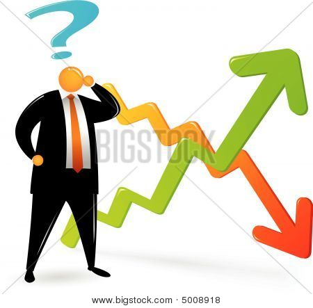 Cabeça laranja confundir sobre gráfico