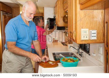 Seniors Rv - Preparing A Meal