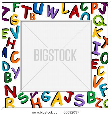 Alphabet Frame On The White Background