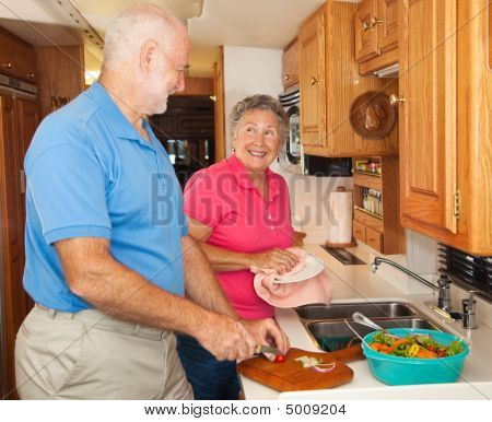 Senior Rv - Helping In The Kitchen