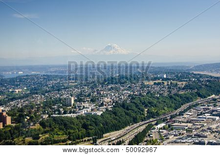 View of Seattle looking south east