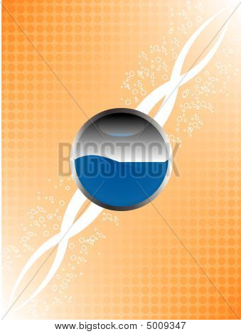 Glossy Button And Bubbles Background
