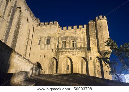 Avignon, Palais Des Papes By Night