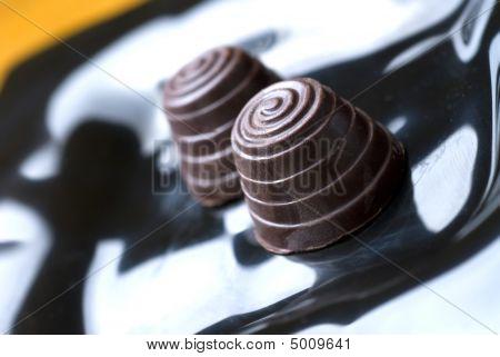 Arabescos de chocolate