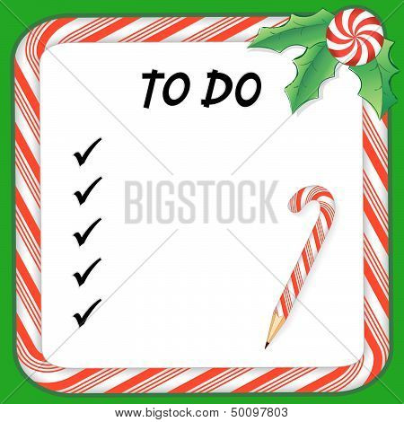Christmas Holiday To Do List