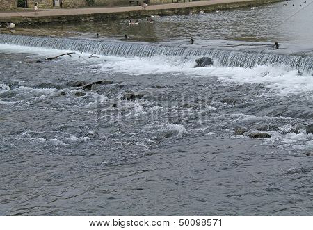 Weir on a River.