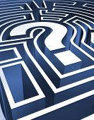 image of question-mark  - a rendering of a question mark maze - JPG