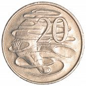 image of platypus  - 10 australian cents coin isolated on white background - JPG